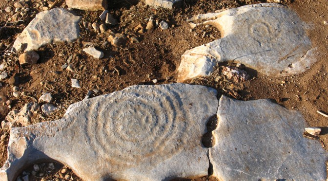 The spiral rock engravings of Iraklia